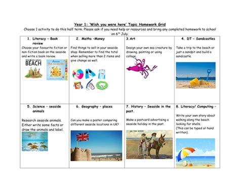 two years in oregon books year 1 wish you were here topic homework grid by