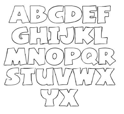 free printable lettering letters stencil for coloring make it pinterest
