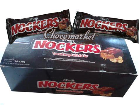 Delfi Nockers kemasan kiloan coklat packing chocomarket