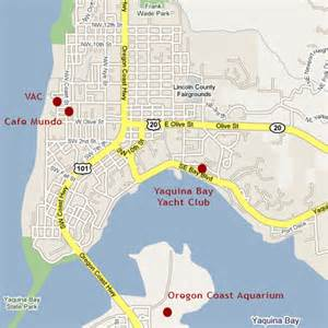 map of newport oregon locations writers on the edge