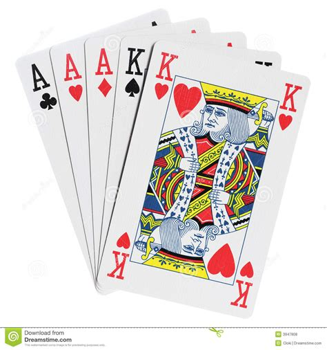 Gift Card For Less - poker hands royalty free stock photos image 3947808