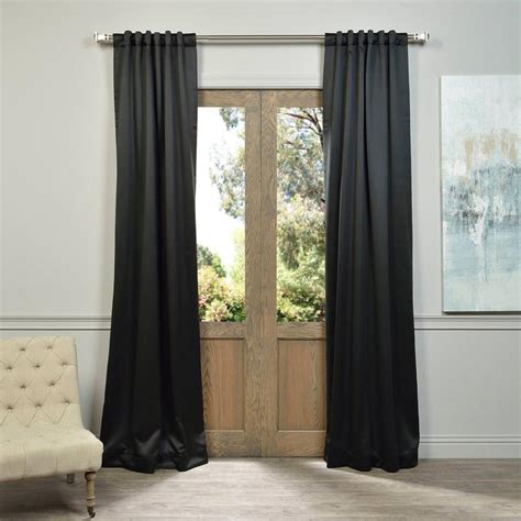 108 blackout curtains exclusive fabrics furnishings jet black blackout curtain