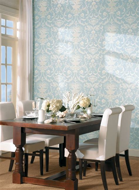 neoclassic sheels dining room wallpaper tropical dining