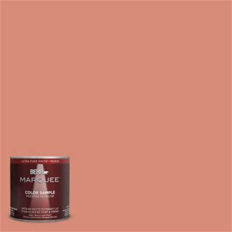 behr marquee 8 oz mq4 32 vintage coral interior exterior paint sle mq30416 the home depot