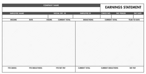 Free Pay Stub Template With Calculator Word Excel Pay Stub Template Word Document Free