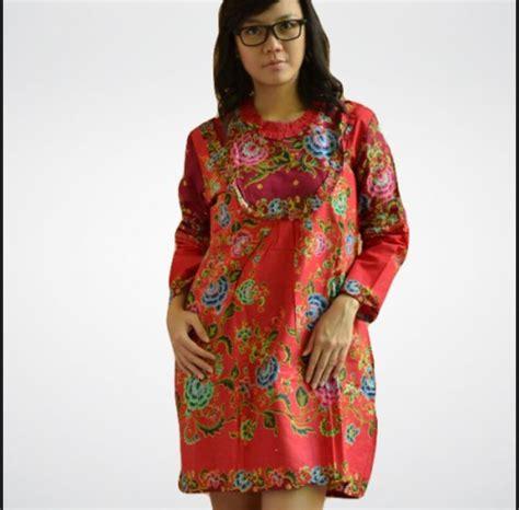 Baju Dress Batik Dress Mini model baju batik wanita gemuk sedang yang cocok untuk
