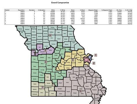missouri district map missouri congressional district map 2016