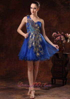 44431 Blue Embriodery Shoulderless S M L Dress royal blue prom dresses beautiful bright blue prom dresses