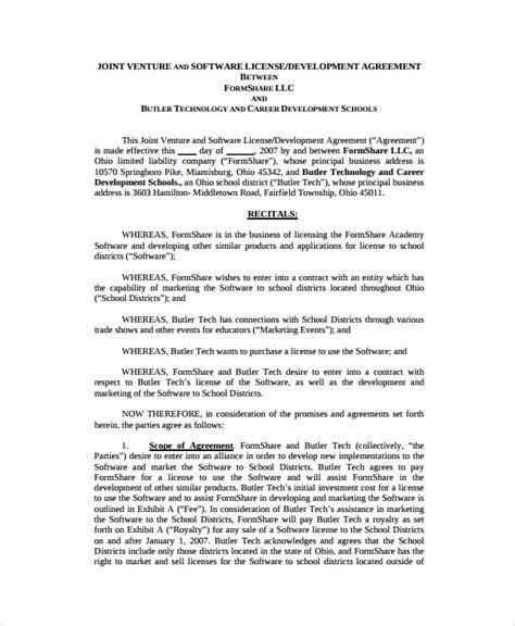 10 Software Development Agreement Templates Sle Templates Software Development Agreement Template
