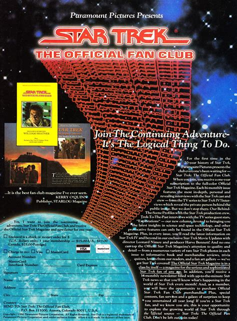 star trek fan club starlogged geek media again 1986 the official star