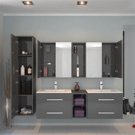 sonix 1500 wall hung basin vanity unit grey buy