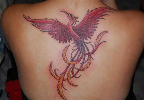 unique phoenix tattoos for girls 18