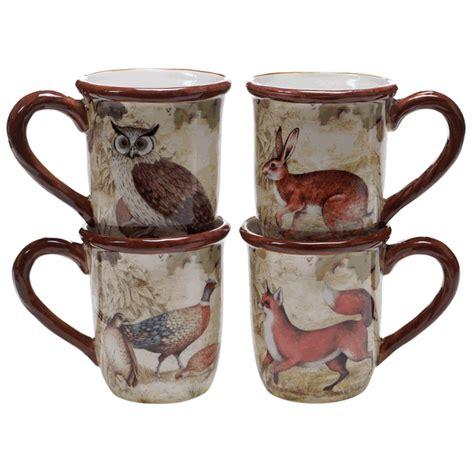 rustic mugs rustic nature mugs set of 4