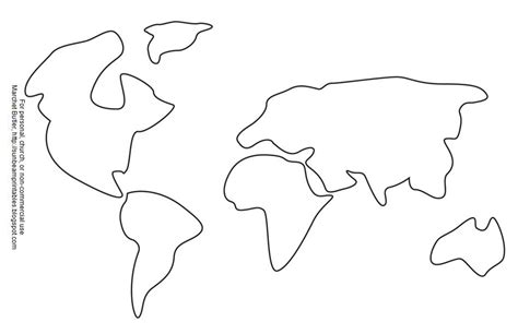 template of the continents free coloring pages of continents