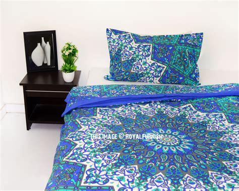 blue boho bedding blue bliss star boho dorm mandala bedding duvet cover with