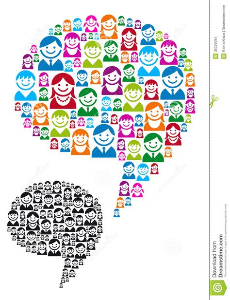 bubble design visual communication mumbai speech bubble with people icons vector stock images