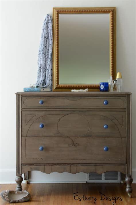 Knobs For A Dresser by A Driftwood Esque Dresser With Blue Glass Knobs Estuary