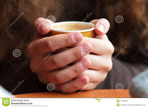hands holding hot coffee stock image image  steaming