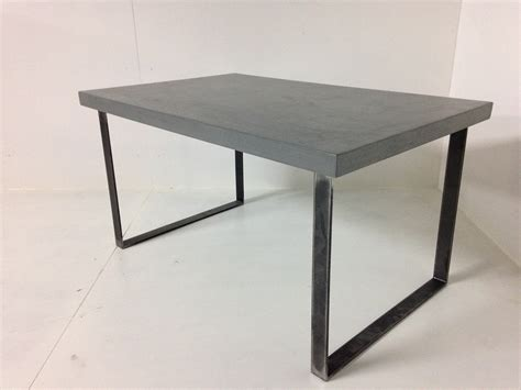 pied de table fer table basse beton fer ezooq