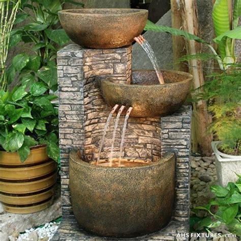 Stone Waterfalls Backyard Unique Pot Fountains For Garden 1000 Ideas About Homemade