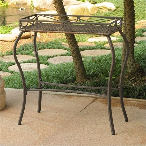 plant potting bench international caravan valencia plant table in antique