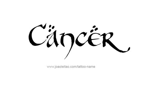 zodiac tattoo fonts cancer horoscope name designs page 5 of 5