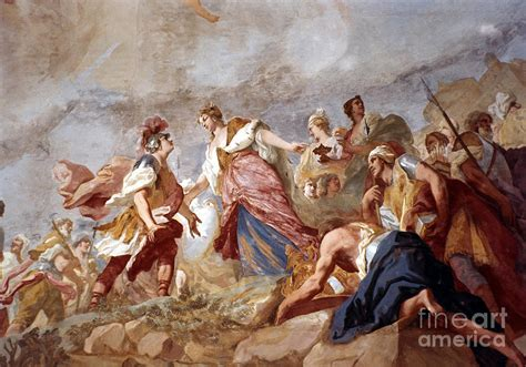 Wood Curtain by Amigoni Dido And Aeneas Painting By Granger