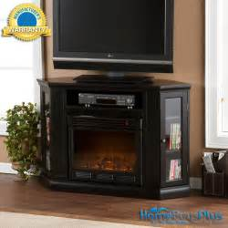 Corner Electric Fireplace Tv Stand Black Electric Fireplace Media Tv Stand Corner Or Flat Wall Remote Ebay