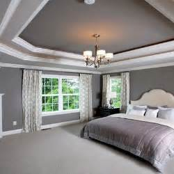 Tray Ceiling Color Ideas tray ceiling grey master design ideas