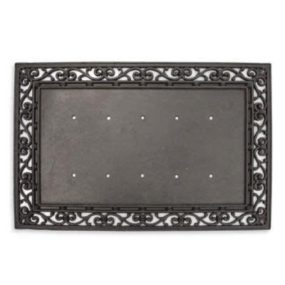 Doormat Inserts by Rubber Door Mat Frame And Monogram Inserts Bed Bath Beyond