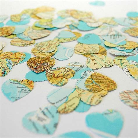 Table Confetti by Map Table Confetti By Treasures