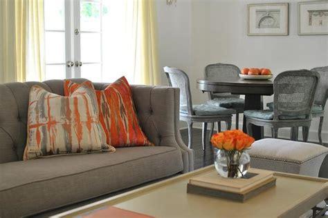 gray  orange room contemporary living room ron marvin