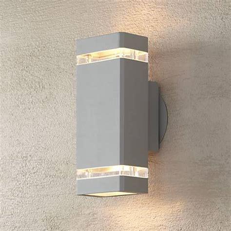 Possini Rectangular Silver Up Outdoor Wall Light
