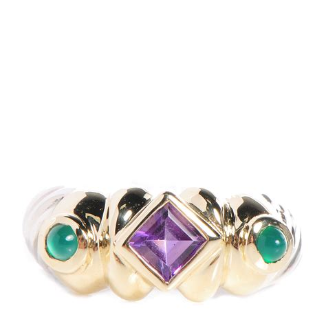 david yurman sterling silver 14k yellow gold amethyst