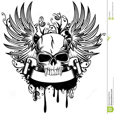 skull with wings stock image image 23169291