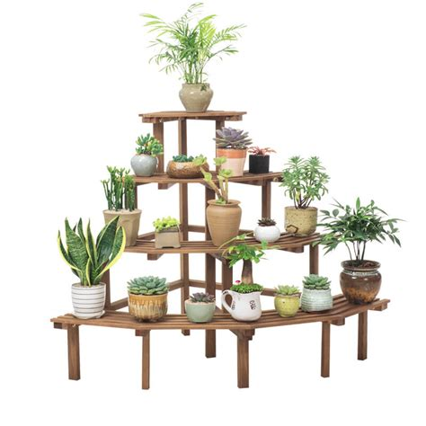 tiers wooden plant stand flower planter pot stand shelf