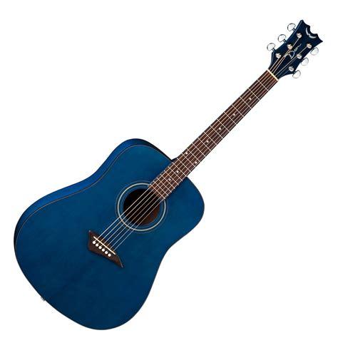 blue dean disc dean tradizione ak48 chitarra acustica trans blue w