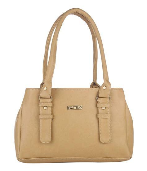 Leather Handbag Beige fostelo beige faux leather shoulder bag buy fostelo