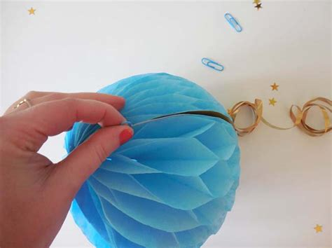 How To Make Paper Balls For Decoration - craft how to make an easy honeycomb paper decoration