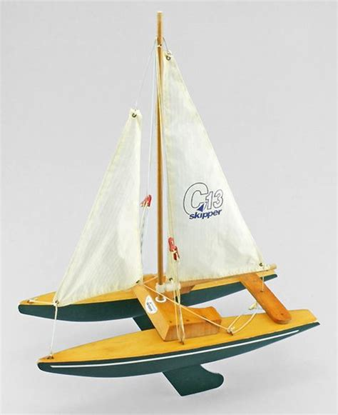 wooden catamaran boat a wooden toy catamaran by skipper yachts wooden toys