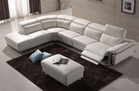 canape relax cuir blanc canap 233 d angle relax en cuir buffle italien de luxe