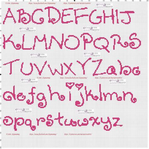 lettere a punto croce schemi amorevitacrocette ancora tanti alfabeti a punto croce