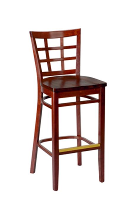 Commercial Counter Height Bar Stools by Regal Seating Model 2411w Commercial Wooden Window Pane