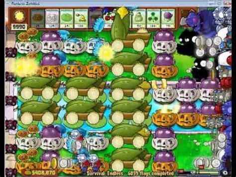 tutorial plant vs zombie survival endless plants vs zombies survival endless 6000 plus flags by
