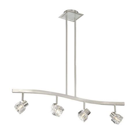 lowes kitchen island lighting shop cascadia lighting 6 in w 4 light satin nickel kitchen