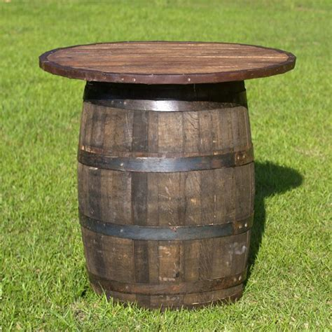 Wine Barrel Patio Table Whiskey Wine Barrel Cocktail Tables For The Patio Whiskey Barrel Table With Top Wedding