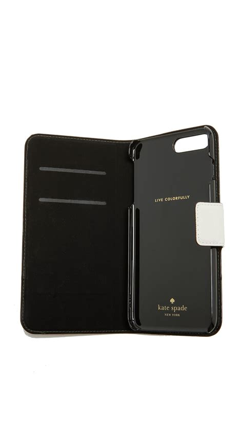 lyst kate spade leather wrap folio iphone 7 plus 8 plus