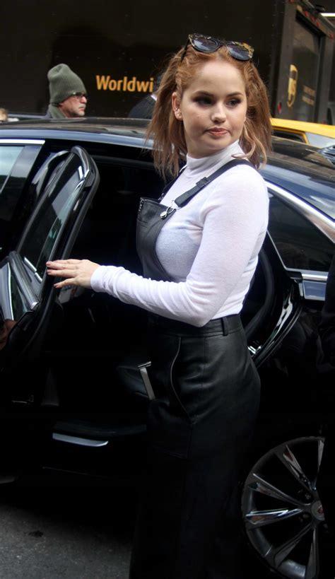 debby ryan leaving  fashion show  nyc  celebslacom