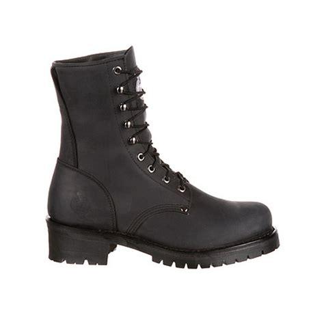 gb00047 mens black leather 8 quot logger work boot ebay