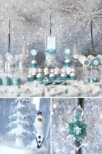frozen decorations trend alert frozen table hostess with